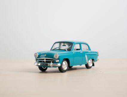 Macro image of vintage toy car
