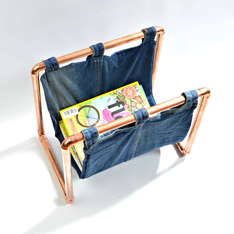 copper pipe magazine rack