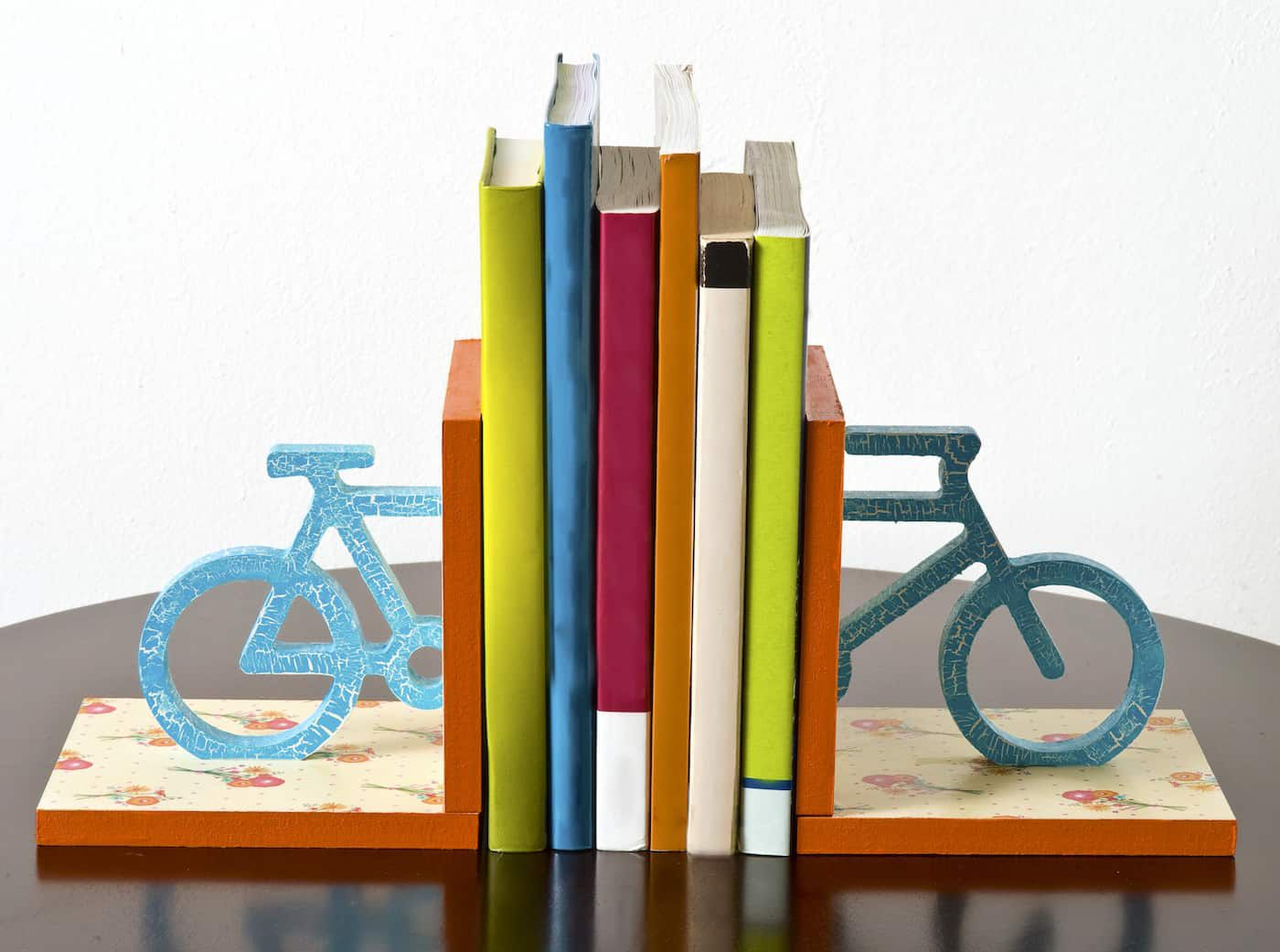 Floral Bicycle Bookends
