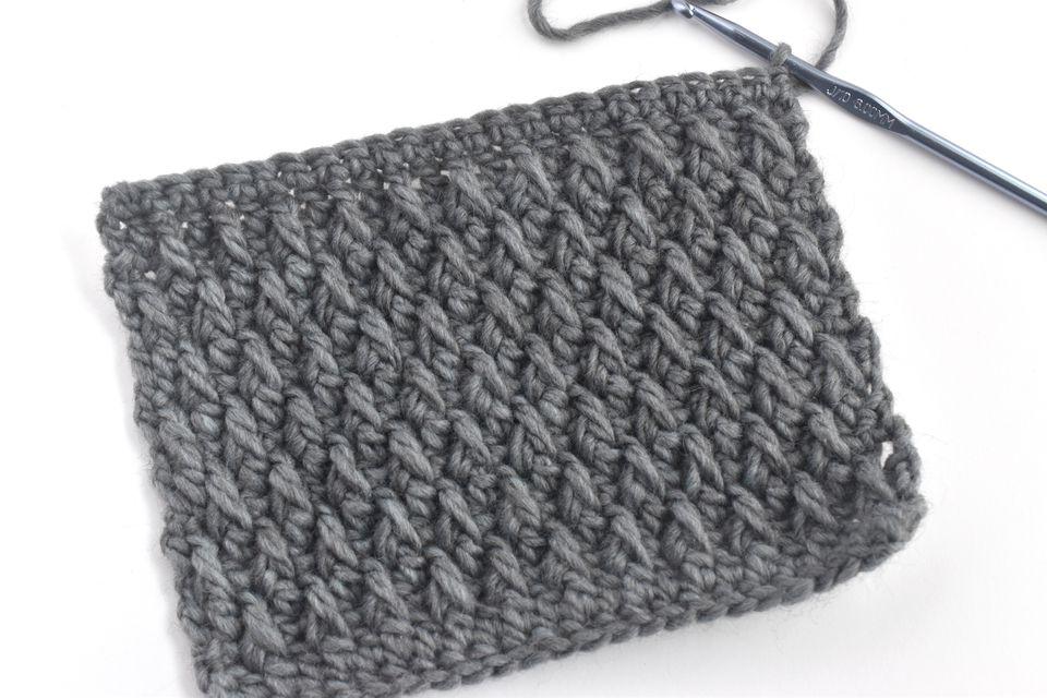 Swatch of Alpine Stitch Crochet