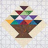 Scrap Basket Quilt Block Pattern