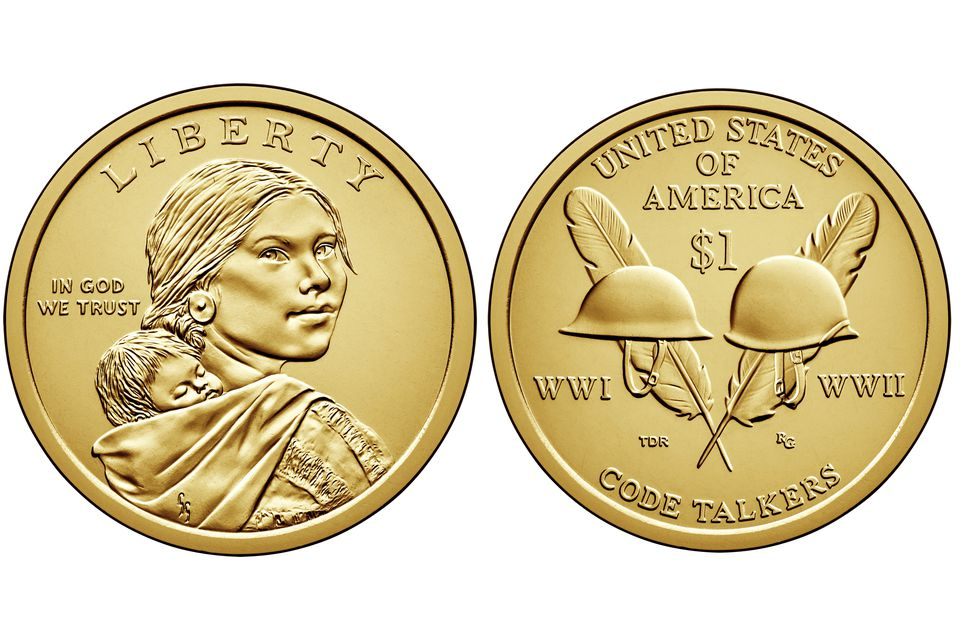 2016 Sacajawea or native American one dollar United States coin