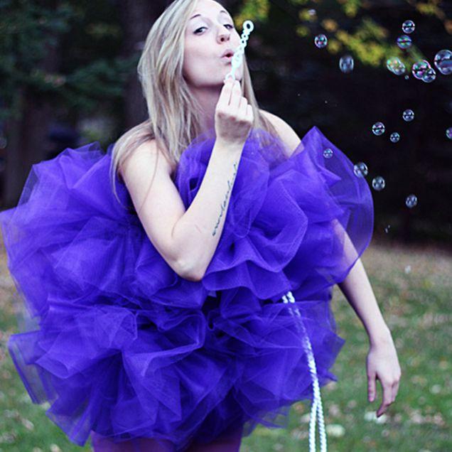 DIY Shower Pouf Costume