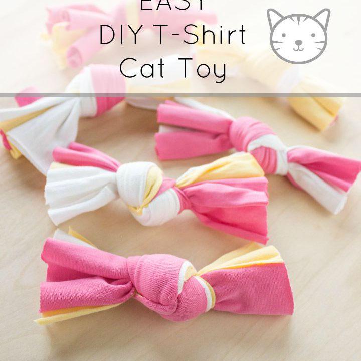 easy diy fabric cat toy