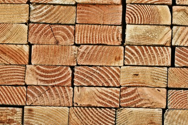 Stack of lumber ends.