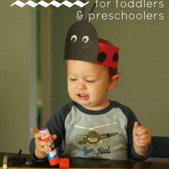 Ladybug Hat Craft for Toddlers