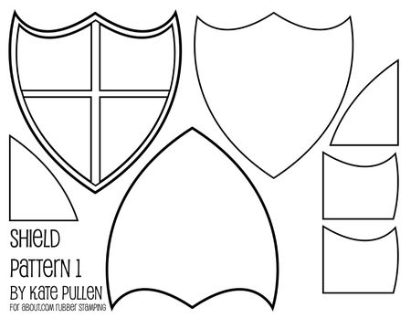 Best blank shield template printable images gallery shield five free shield templates for cards and scrapbook pages maxwellsz