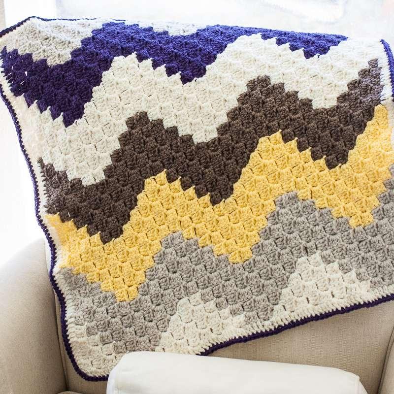 C2C Chevron Crochet Blanket
