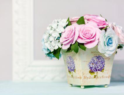 Artificial flowers composition
