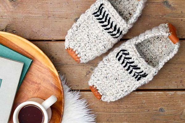 Men's Crochet Slippers