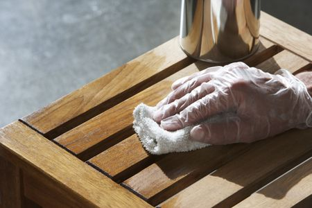 Staining Wood Bench Ron Fehling Getty Images
