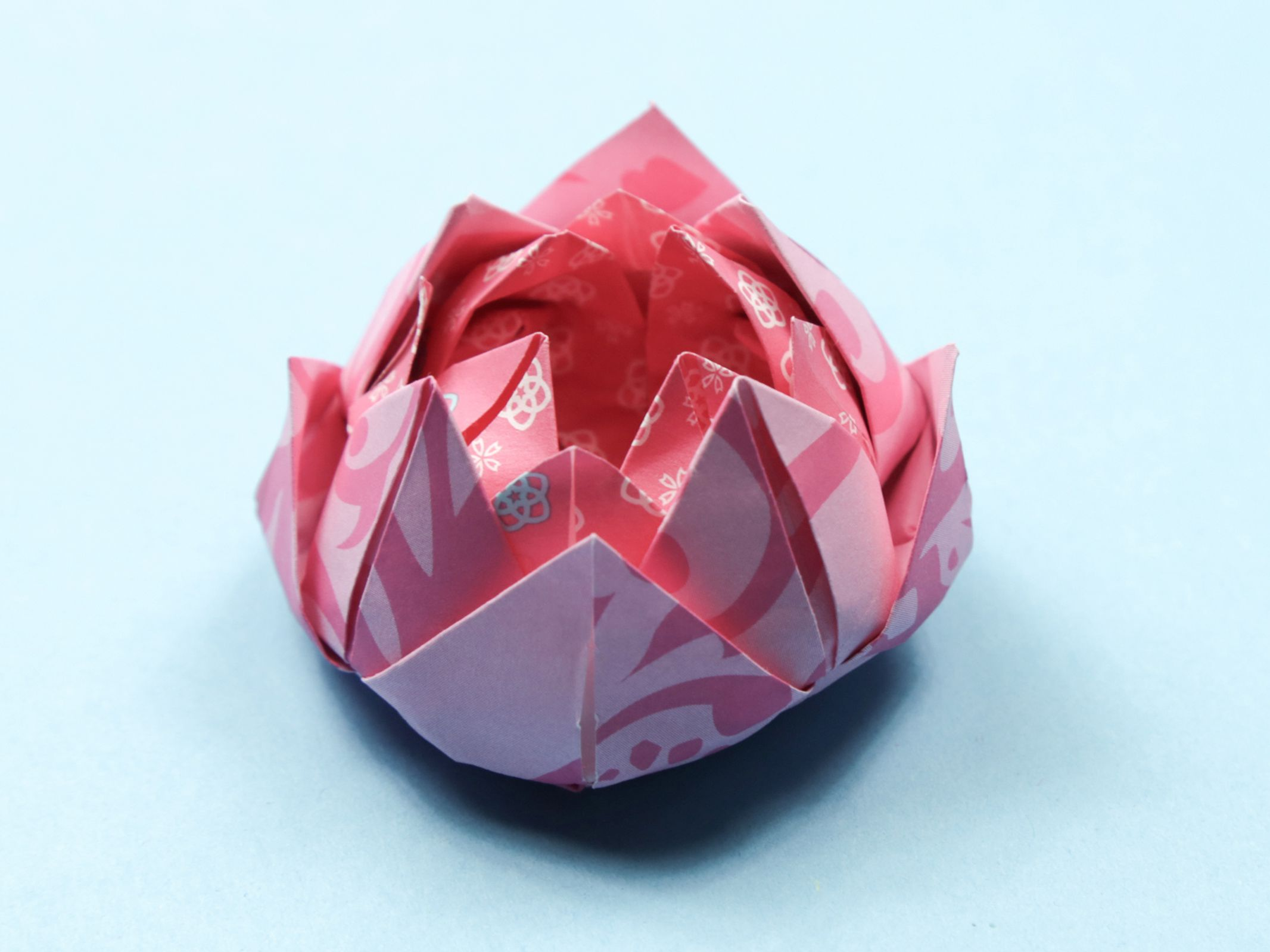 How to Simple Origami Lotus Flower Step by Step - Kids Can Make | 1599x2132