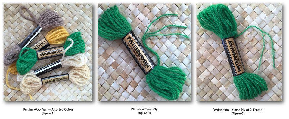 Persian wool needlepoint yarn
