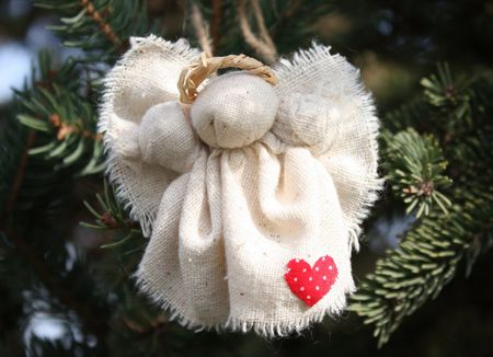 rustic christmas angel pin or ornament project - A Christmas Angel