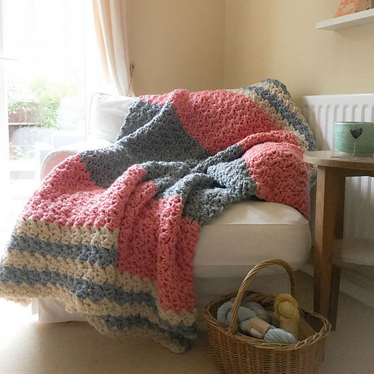 Enormous Squishy Blanket Free Crochet Pattern