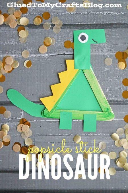 Popsicle Stick Dinosaur