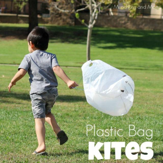 plastic bag kite