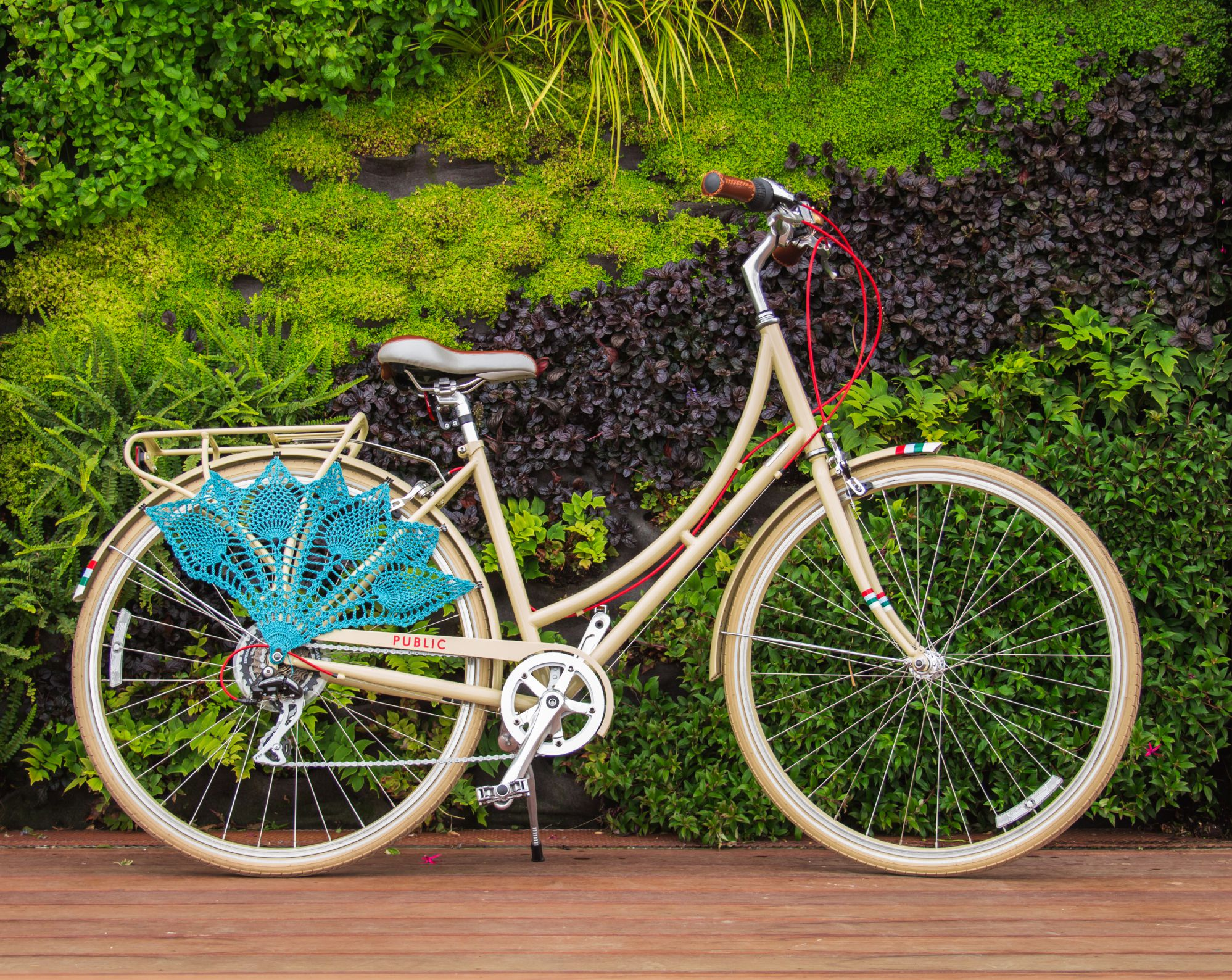 Pineapple Crochet Bicycle Skirt Guard