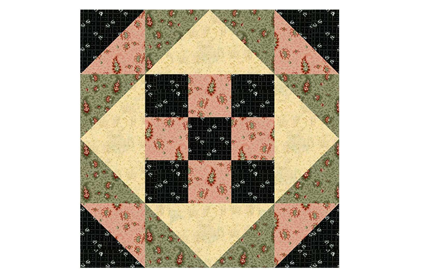 Easy Patchwork Quilt Block Pattern