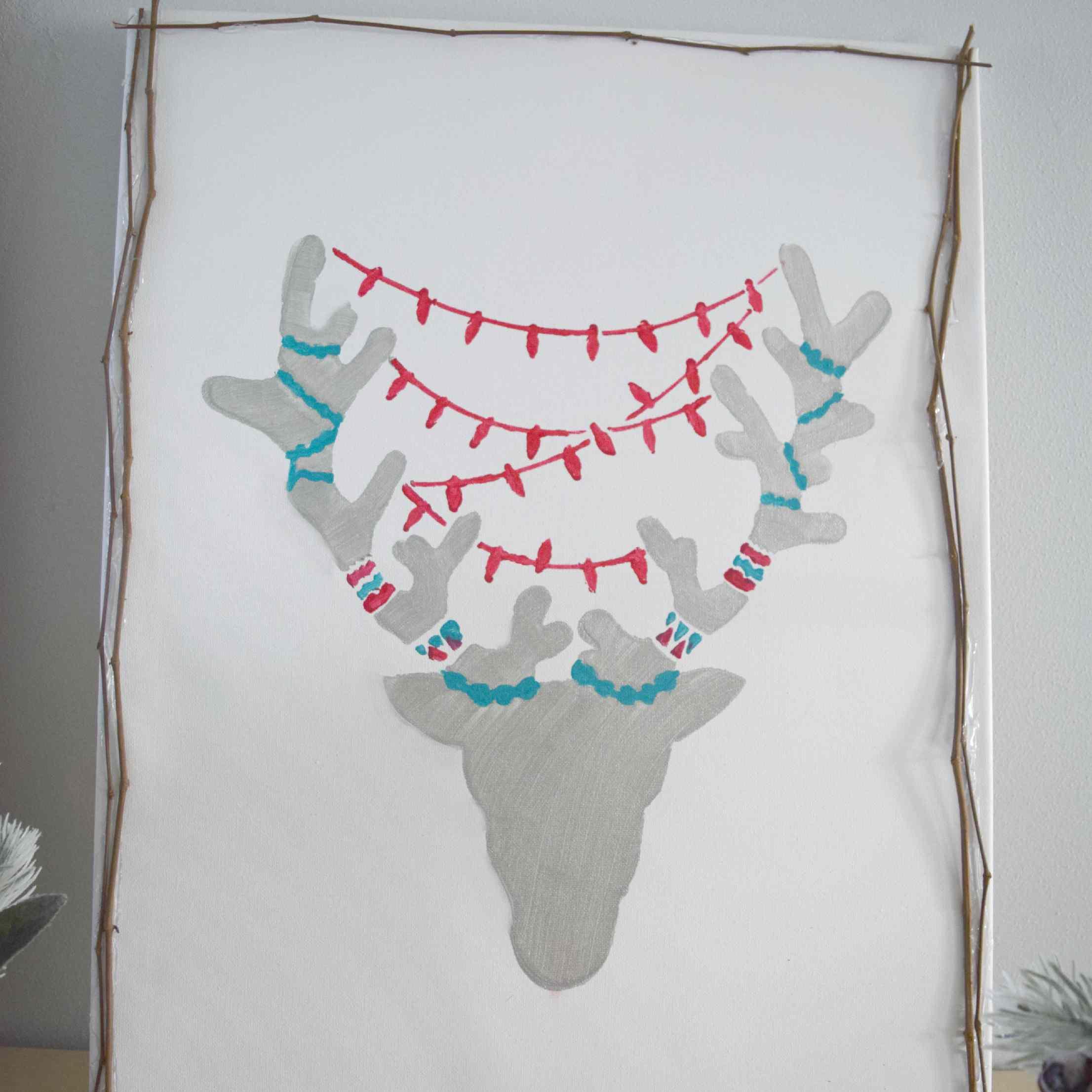 DIY reindeer art.