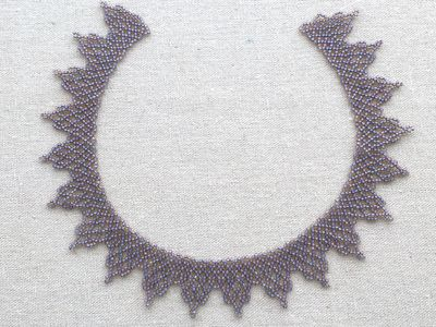 Bead Embroidery Using Back Stitch