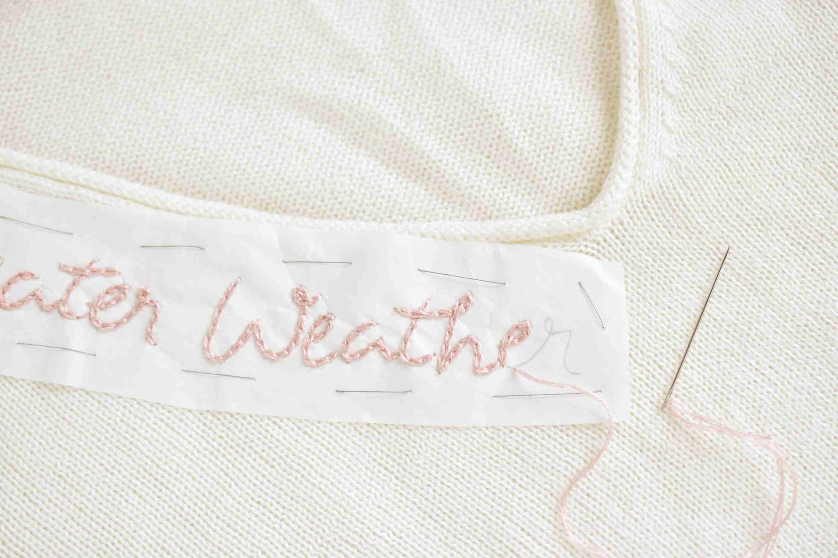 Stitching on the Sweater