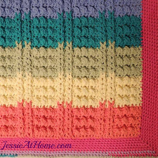 Rainbow Crochet bath mat
