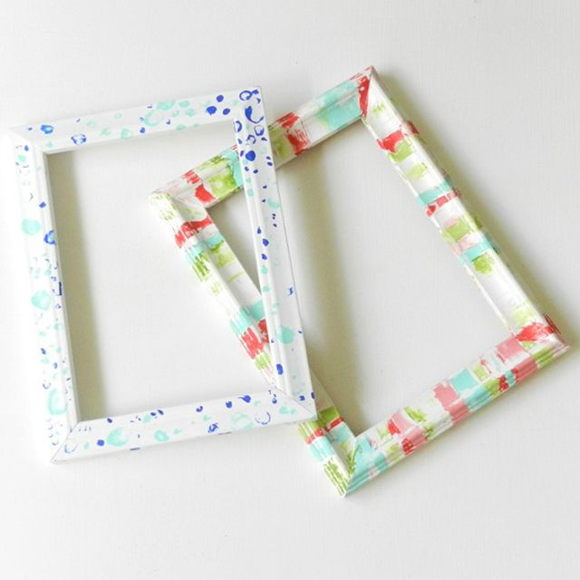 diy colorful picture frames
