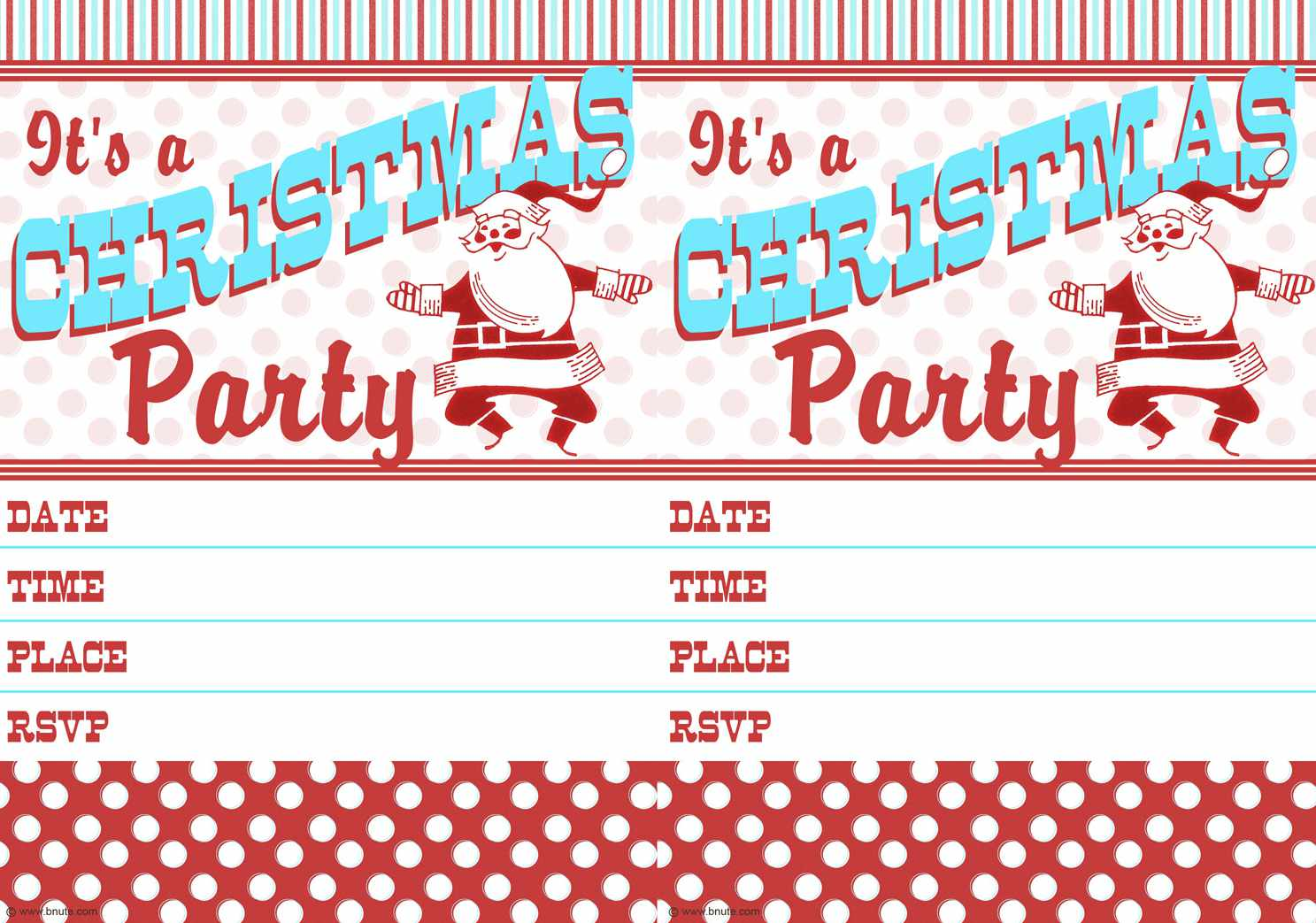 Christmas Invitations Free Template.11 Free Christmas Party Invitations That You Can Print