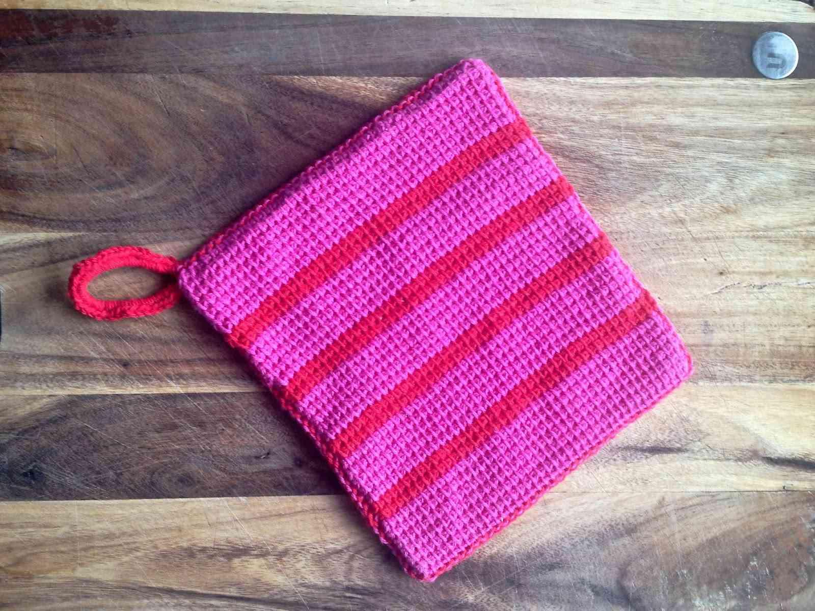 Tunisian Crochet Pot Holder Pattern