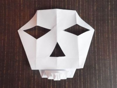 How To Make An Origami Skull Mask