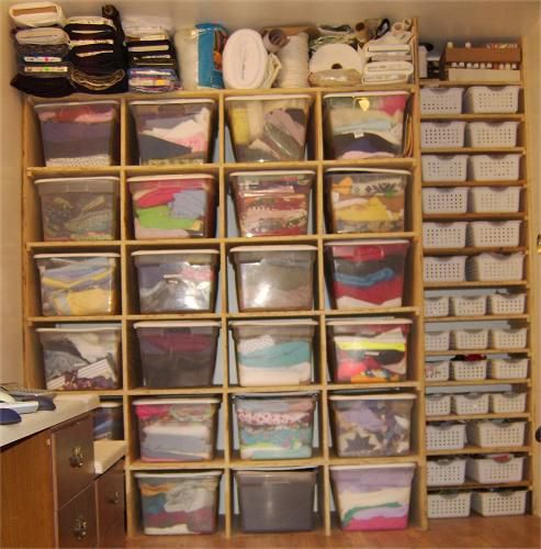 Fabric and Notion Organizational Cubbies