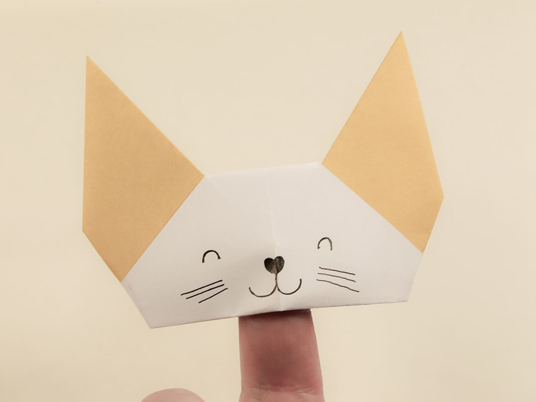 Halloween Origami Cat - Easy Origami Tutorial - How to make an ... | 800x1067