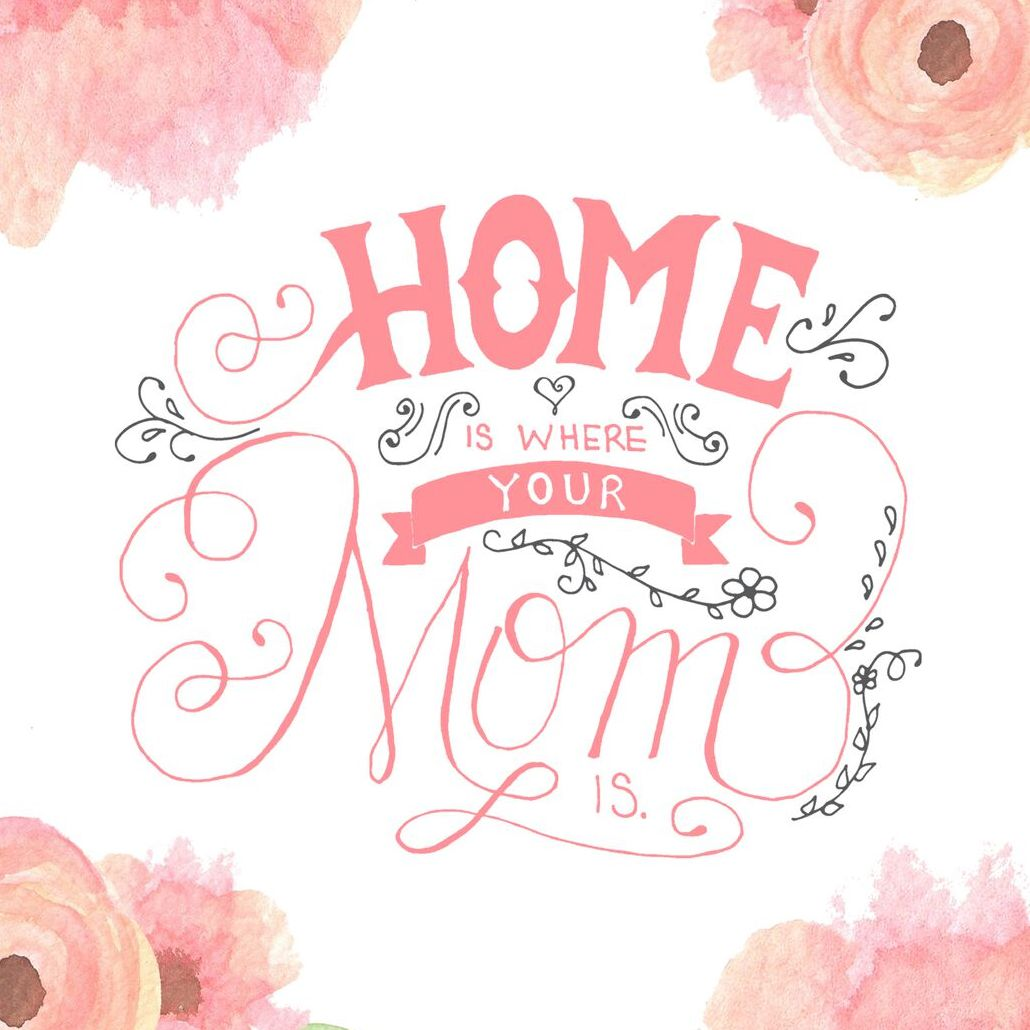 A floral watercolor Mother's Day card