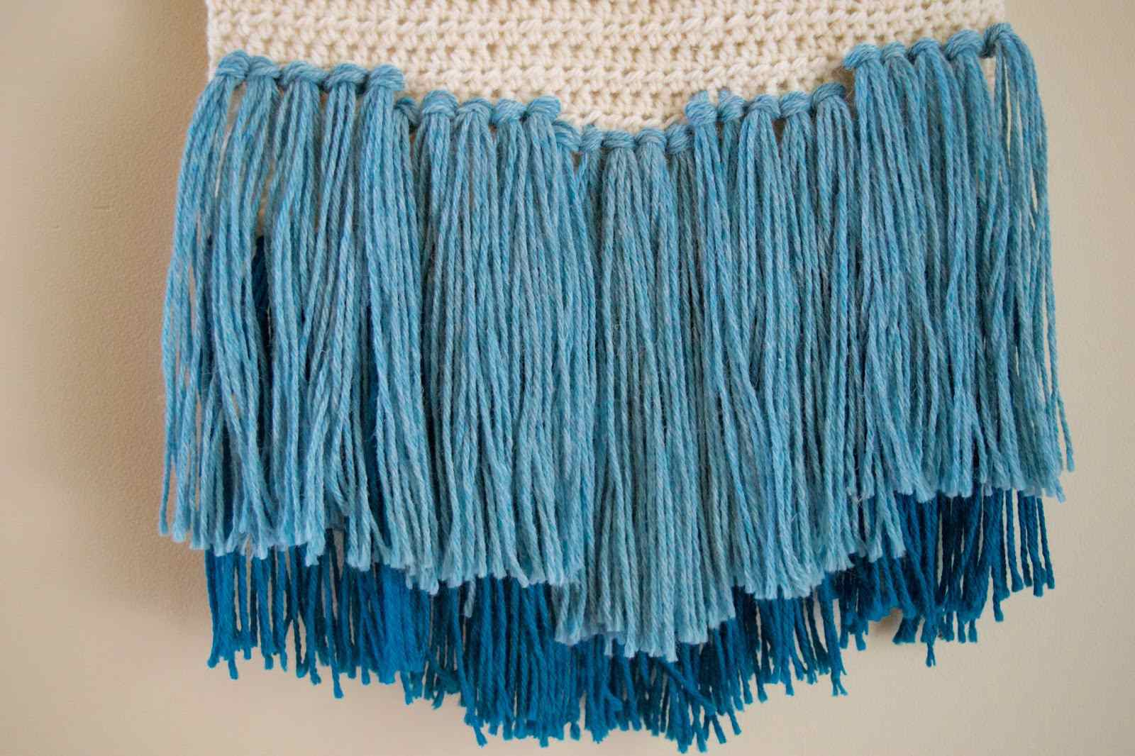 Crochet Wall Hanging with Fringe