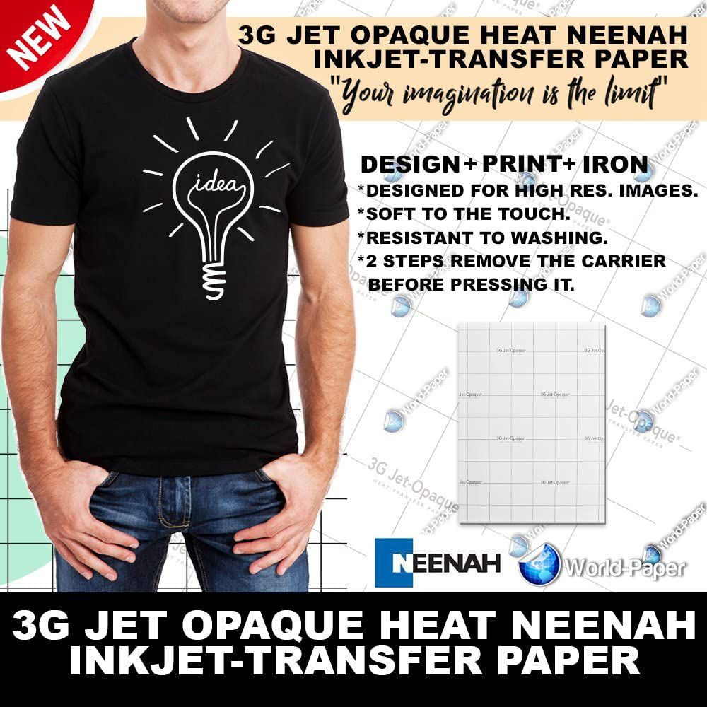 Iron on heat transfer paper