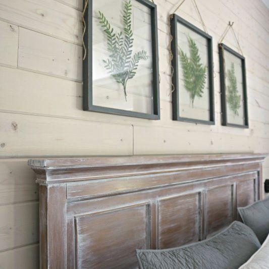 Pressed plant frames for bedroom