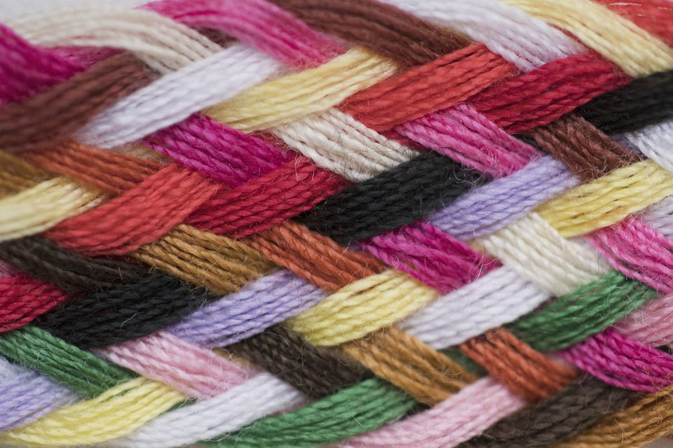 Colorful Striped Yarn