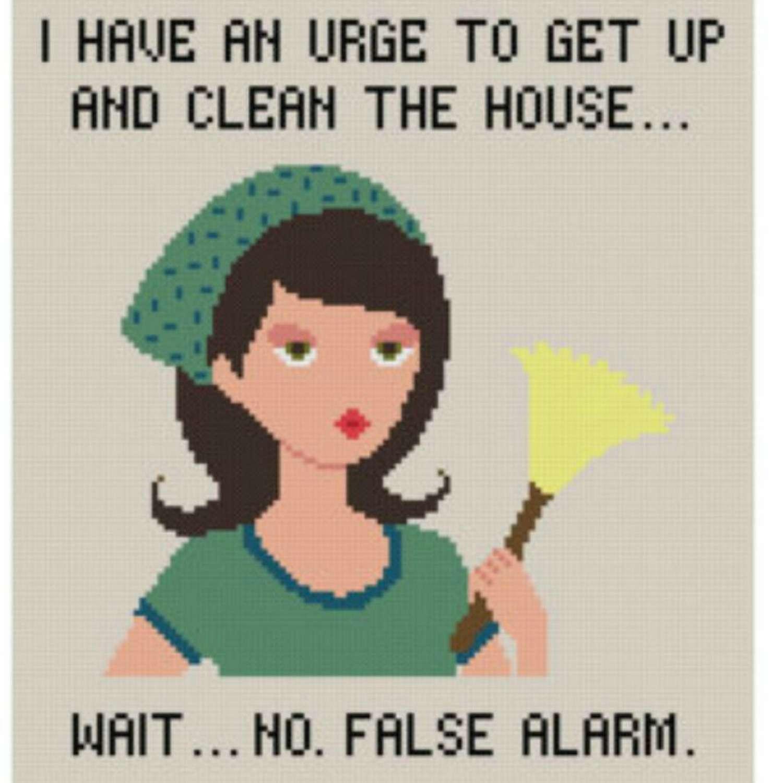 Urge To Clean cross stitch