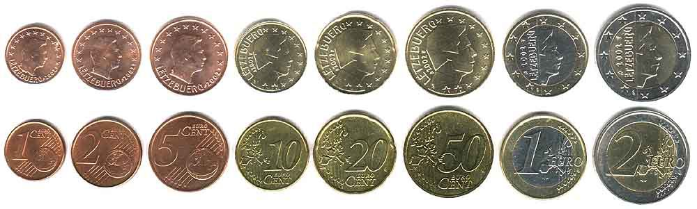 These coins are currently circulating in Luxembourg as money.
