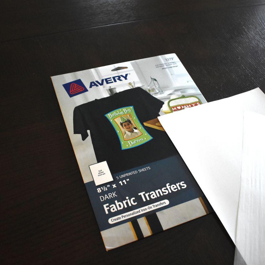 Avery Printable T-Shirt Transfers for Dark Fabrics