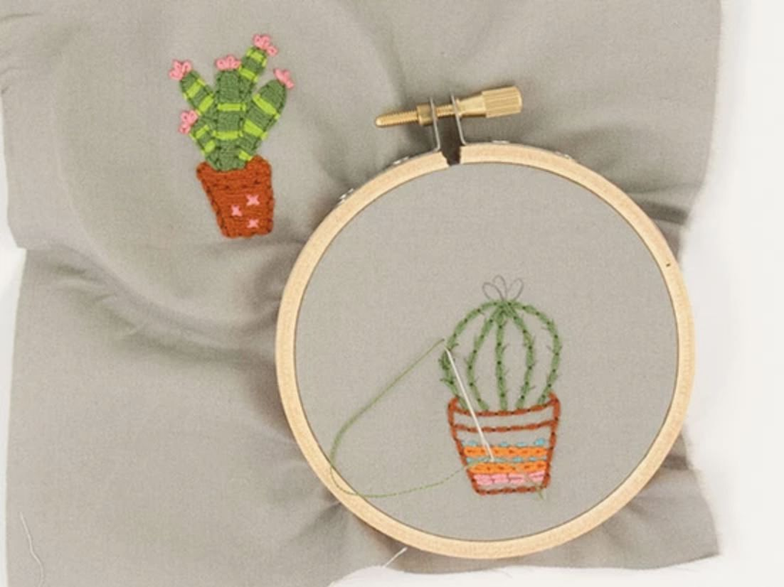 Mini Cactus Embroidery Patterns