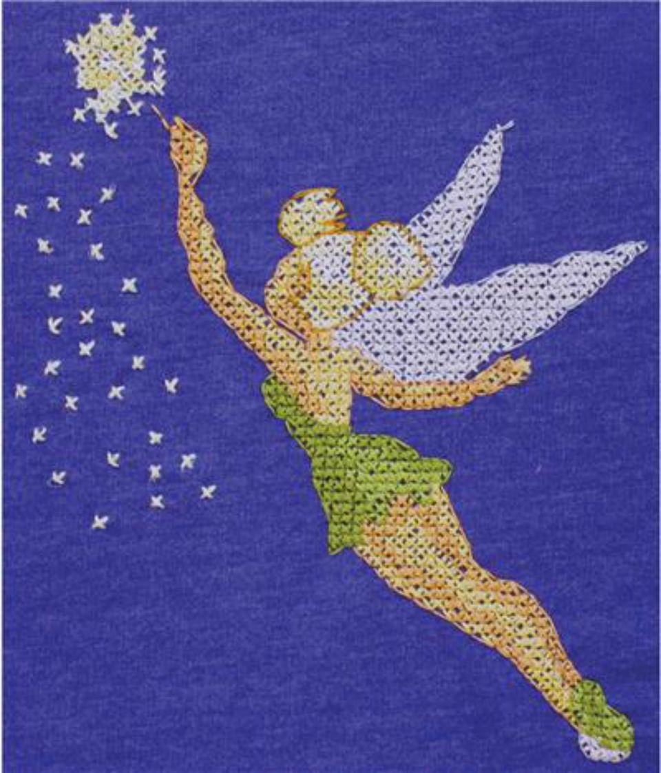 Tinkerbell cross stitch pattern