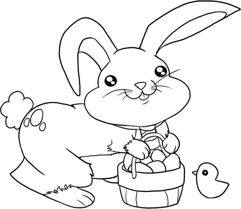 10 Places For Free Easter Bunny Coloring Pages