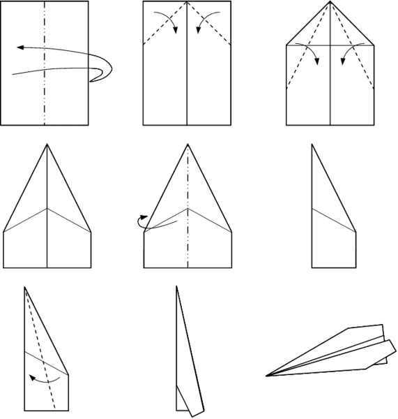 Image result for how to make a paper airplane