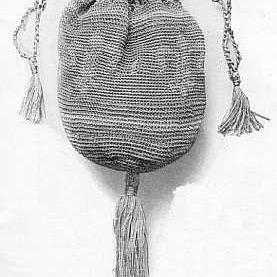 Photo of a Crocheted Fleur De Lis Bag