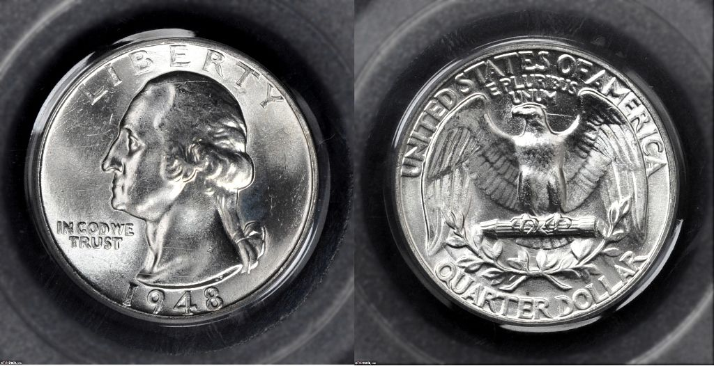 Washington Quarter Graded Mint State-65 (MS65)