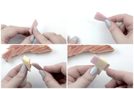 Origami Bracelet Tutorial Step 2