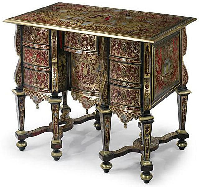 Louis XIV-Style Bureau Mazarin, ca. late 1800s - Identifying Antique Writing Desks And Storage Pieces