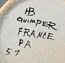 HB Quimper Mark Used From 1968 to 1983